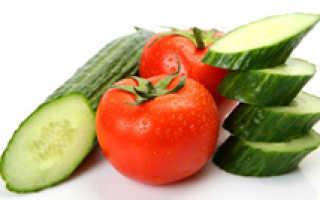 Сколько калорий в огурцах и помидорах