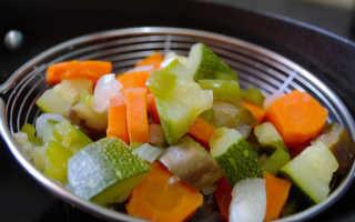 Сколько калорий в тушеных овощах