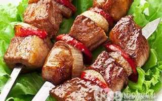 Шашлык свиной калорийность на 100 грамм