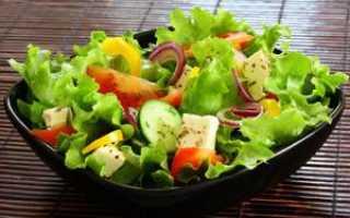 Салат овощной калорийность на 100 грамм