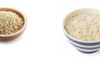 Ячневая каша калорийность