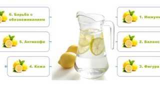 Лимонная вода для похудения рецепт