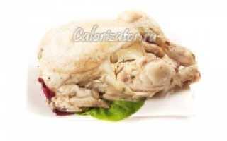 Вареная курица калорийность