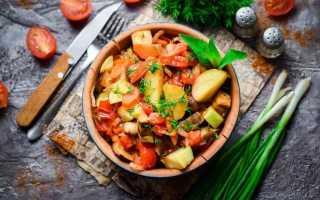 Сколько калорий в овощном рагу