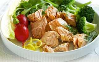 Горбуша вареная калорийность