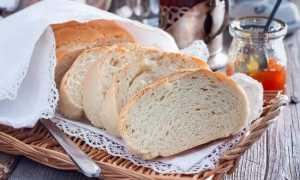 Сколько калорий в кусочке белого хлеба
