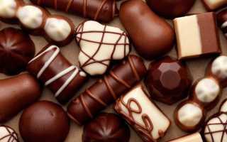 Сколько калорий в шоколадной конфете
