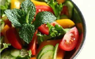 Салат из помидоров и огурцов калорийность