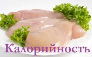 Калорийность куриной грудки отварной