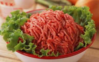 Фарш домашний калорийность на 100 грамм