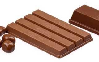 Сколько калорий в молочном шоколаде