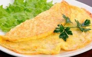 Сколько калорий в омлете из 2 яиц