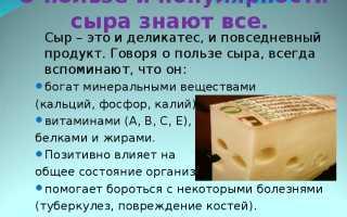 Какой сыр можно есть при диете