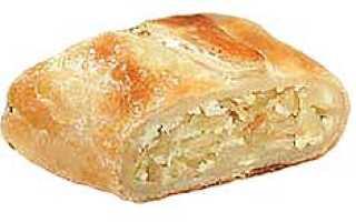 Слоеное тесто калорийность