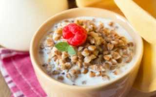 Гречка с молоком калорийность