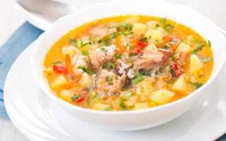 Суп куриный с рисом калорийность