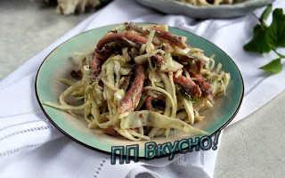Диетический салат с кальмарами рецепт