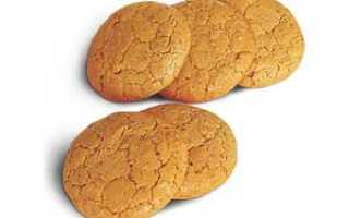 Галетное печенье калорийность