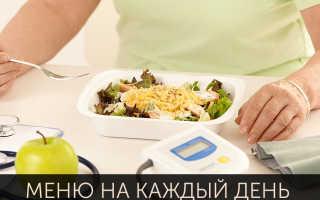 Примерная диета при сахарном диабете 2 типа